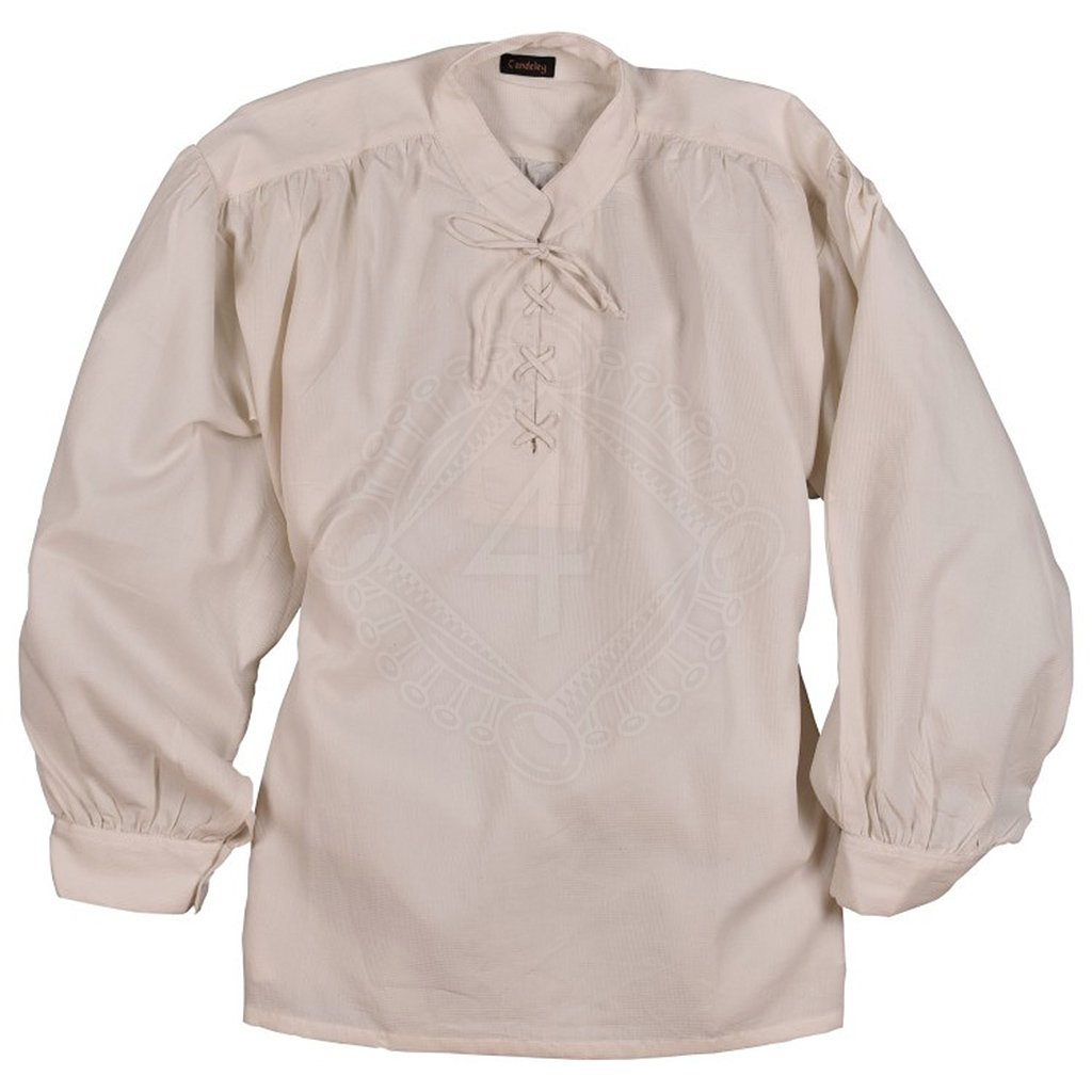9afb9f76aac Strukturovaná košile se stojáčkem a šněrováním