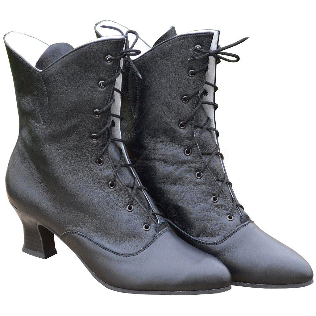 d137d9dcb762c Dámské kožené boty, nadkotníkové s výkrojem   Outfit4Events
