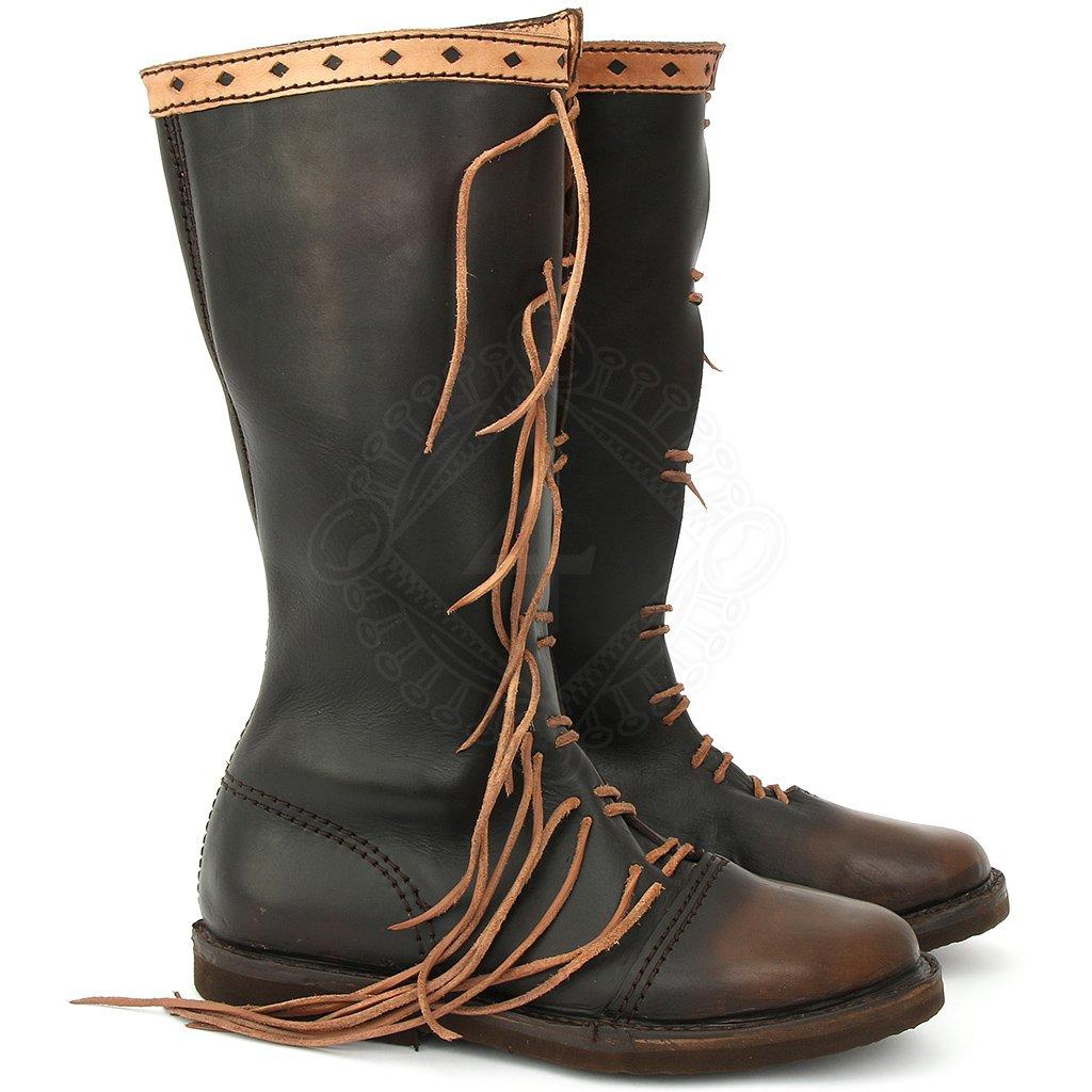 Vysoké šněrovací kožené boty Posel +3 další a84d93ef72