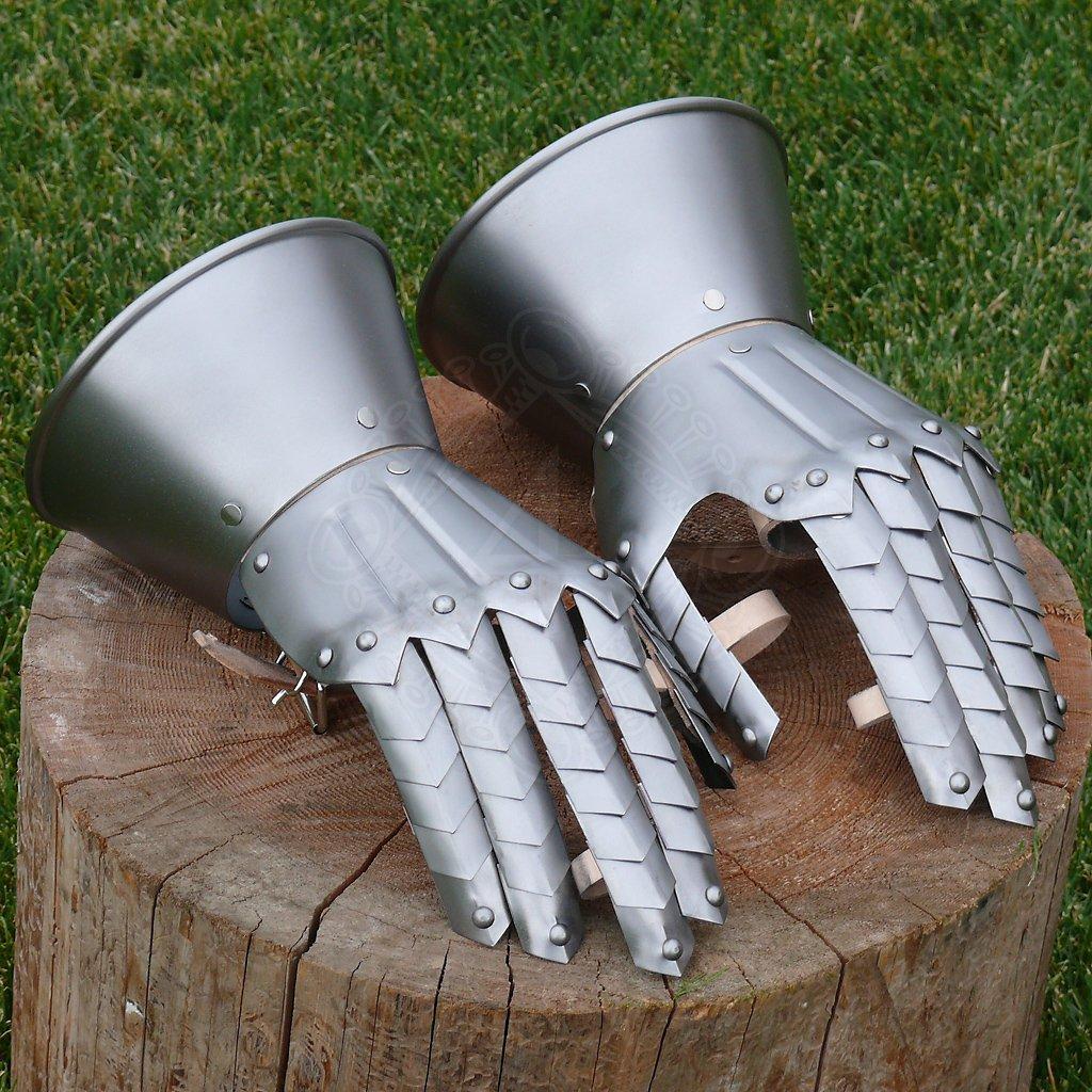 236f150ec8d Gotické plátové rukavice bojové +4 další