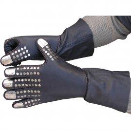 86ad83db69a Kožené rukavice z černé kozinky